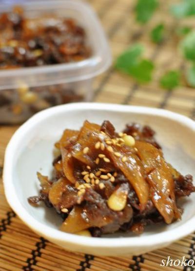 新生姜たっぷりの牛肉しぐれ煮