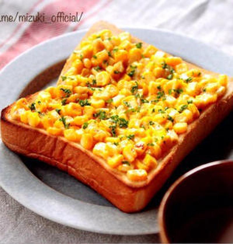 朝食やランチにおすすめ!手軽に作れる「コーン缶×パン」レシピ