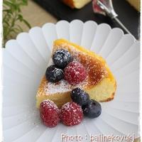 簡単混ぜるだけ!バニラビーンズ香るチーズケーキ