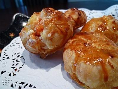 >柿とクリームチーズのひと口パイ by mcmaskyさん