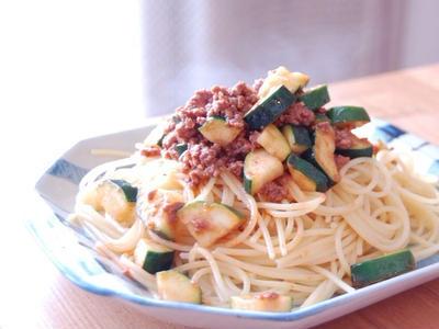 >ズッキーニの味噌ミートソーススパ by Sachiさん