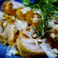 続・バレンタインディナー【②コッテリ濃厚味・ロール豚のトマトソース煮】オニオンオイルで絶品です♪