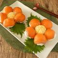 お花のサーモン手まり寿司