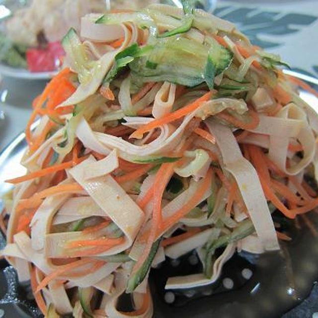 【レシピ】干豆腐の中華風和え物