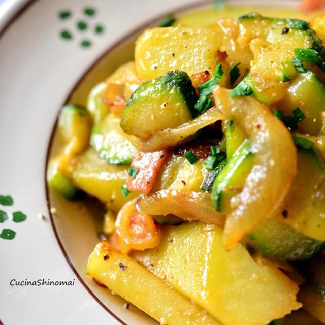 ズッキーニとジャガイモのカレー風味