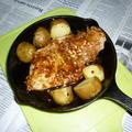 ニトスキで豚ロースのステーキ