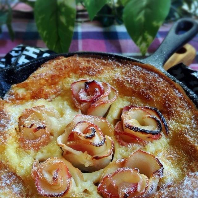 薔薇りんごのダッチベイビー と りんごドーナツ