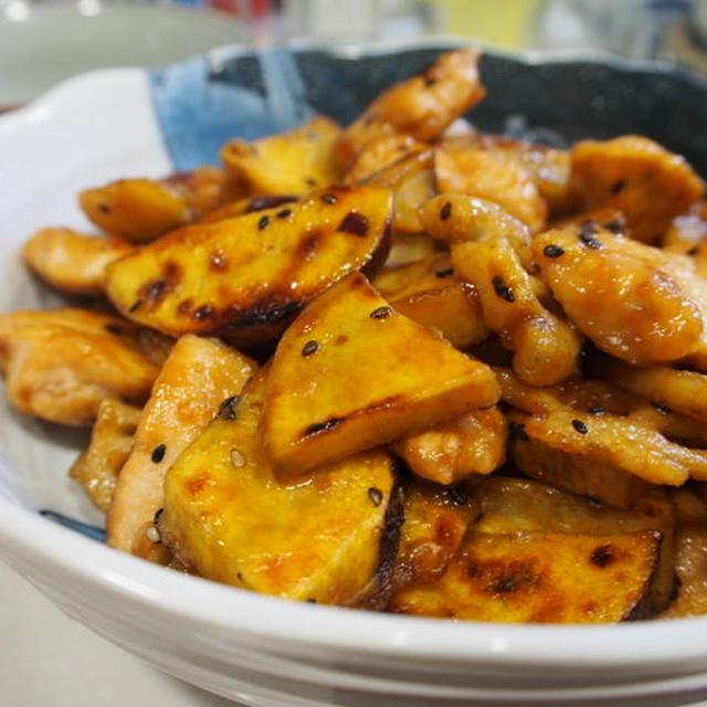 鶏肉と根菜の甘辛炒め。