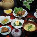 鶏の唐揚げ、ふきの和食の晩ごはん!