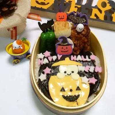 ハロウィン★平面おばけちゃん弁当