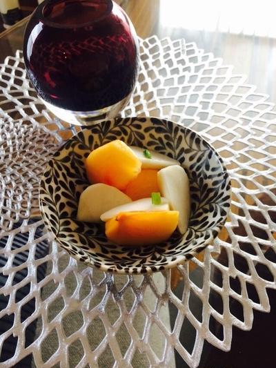 かぶと柿のフレンチサラダ