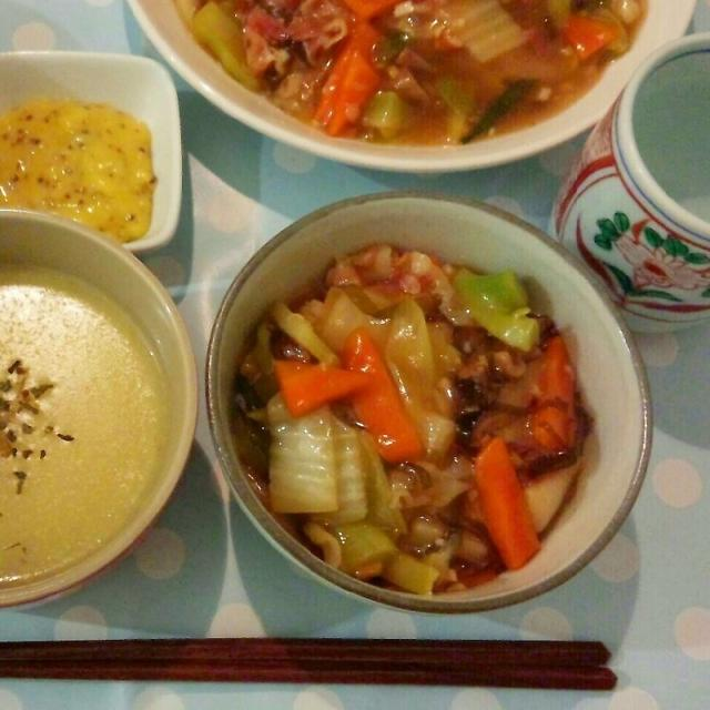 お野菜たっぷり中華丼