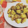 味噌、バター、粗挽き胡椒のジャガイモソテー