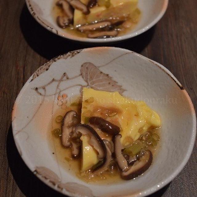 【カニカマオムレツの椎茸あんかけ】念願の 秋刀魚塩焼き 外で焼く