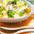 ◆時短レシピ◆かぼちゃと鶏肉のマカロニグラタン