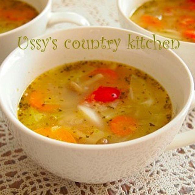【ホームフリージング野菜で】野菜スープ