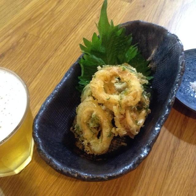 そろそろ旬のイカを食す 「イカと大葉の天ぷら」