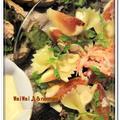 イチジク&蟹de・・・ファルファッレのサラダ♪&タルティーヌも♪♪・・・イチジクの皮の剥き方★ by naonao♪さん
