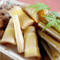 ■季節料理【蕗と真竹と油麩の煮物】