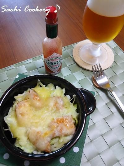鮭缶&キャベツのチーズ焼き