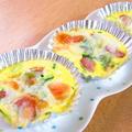 ソーセージのエッグチーズ焼き