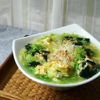 【うちレシピ】わかめスープで★かきたまスープかけごはん / 【参加中】「わかめスープ」レシピモニター
