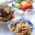 日本酒飲みくらべと居酒屋料理の日「サーモンのユッケ(レシピ)」「鶏と根菜の煮物(動画)」「いり豆腐(動画)」
