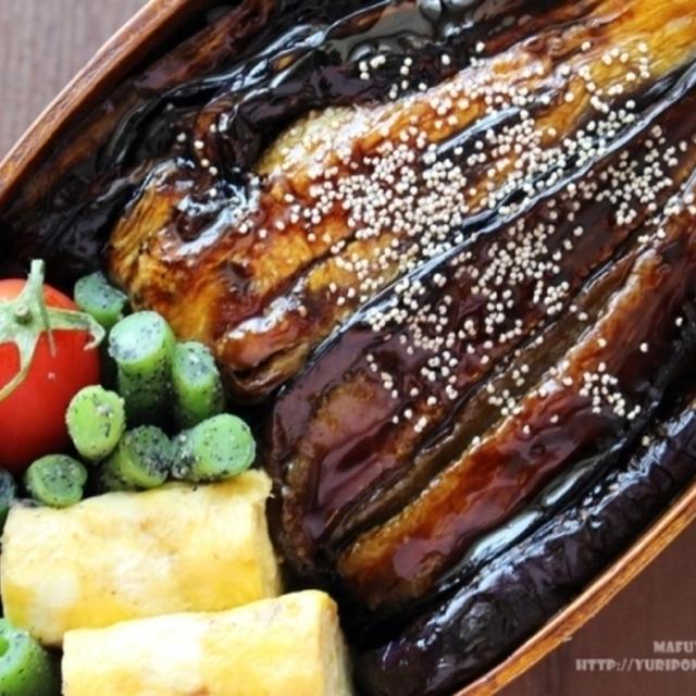 【ぎふベジ】茄子編③ ~ ささっとランチ!茄子(ナス)の蒲焼き丼と茄子のう巻き風。