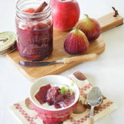 [スパイス大使]りんごといちじくの赤ワイン煮。。。