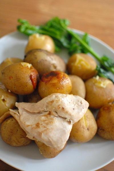 ポテトとチキンの無水焼き~究極のずぼら料理~