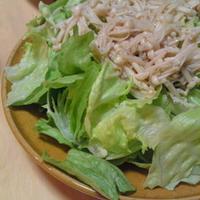 ガーリックえのきとレタスのサラダ