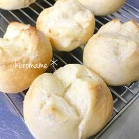 オーバーナイト発酵で朝食に焼き立てパン***