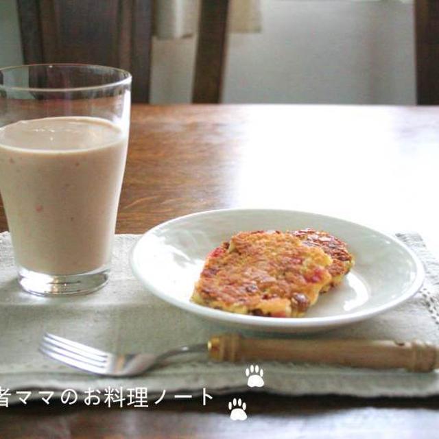 W大豆のお焼き第2弾でヘルシー朝ごはん☆
