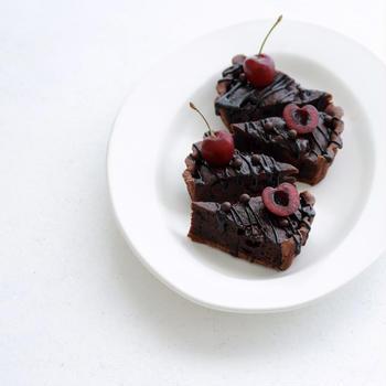 6月レッスン「チェリーとチョコレートのタルト」