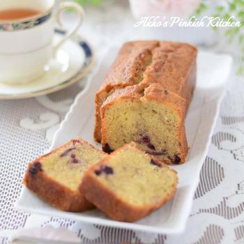 【おもてなし】ブルーベリージャムケーキ♡市販のジャムで簡単&上品なティータイム♪