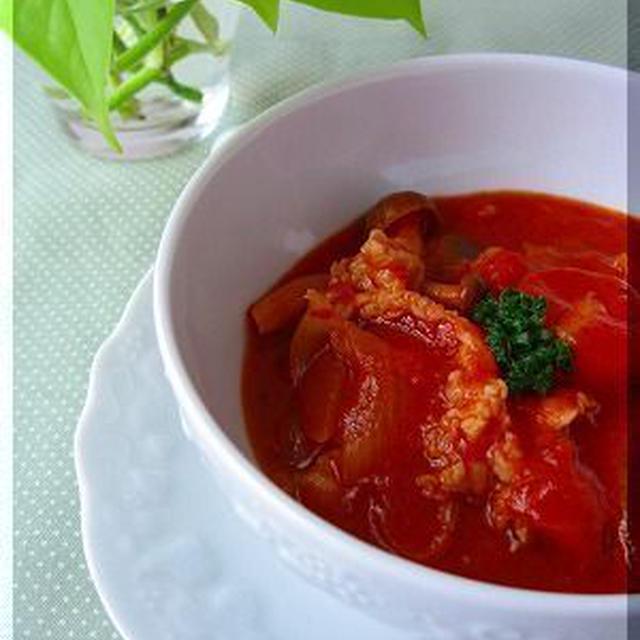 トマト缶がメインの『ハッシュド・ポーク』♪