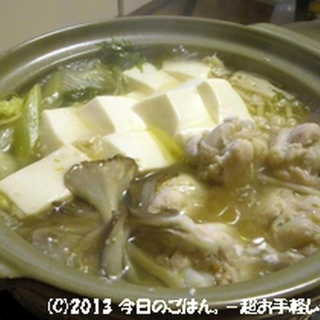 塩麹手羽の水炊き 超シンプルに(^_-)-☆