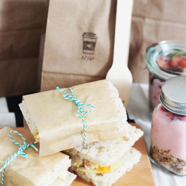 春ピクニックに♪DIY紙袋&カトラリーで小粋なbento