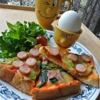 スパイス大使☆4種のペパーピザトースト