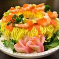 【アメリカでひな祭り】ひな祭りケーキ寿司とはまぐりの潮汁