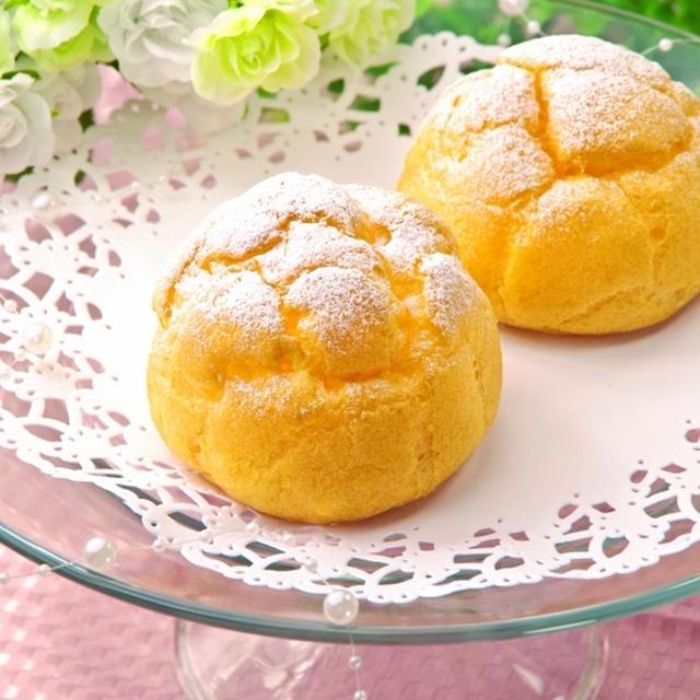 ホットケーキミックスHMとサラダ油で簡単お菓子♪まんまる基本のシュークリーム♡父の日に
