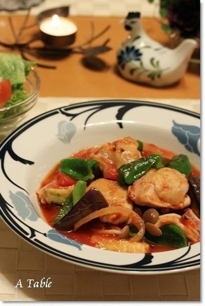 野菜たっぷり♪チキンカチャトーラ(レシピ)@新しいマイキッチン