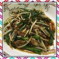 鯖味噌缶ともやしの炒め物