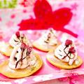 桜モンブランパンケーキ♡