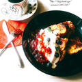 《レシピ》黒糖レーズンパン♪ ~フレンチトーストへ♡ と、本日のわんこ。