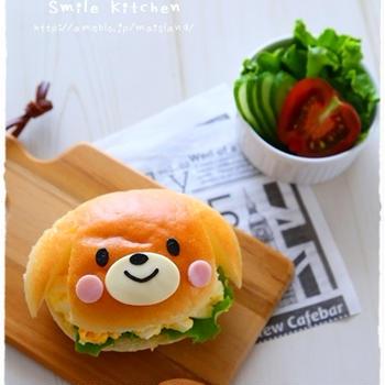【わんちゃんサンド♪】【パンダくんのお弁当♪】