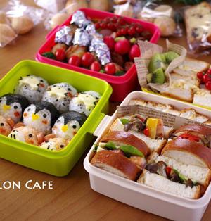 2014年春の運動会のお弁当☆キャラおにぎり&カフェ風サンドイッチの簡単レシピ