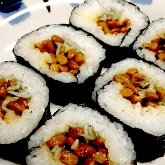 【レシピ】 納豆巻き(^^♪ ~カルシウムたっぷり~