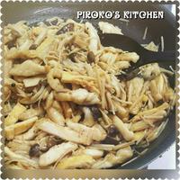 秋きのこの料理、レシピブログのモニター商品