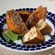 《レシピ》【常備菜】厚揚げの肉詰め♡お弁当にも♪~食欲の秋はヤバいよね・・・~ と、初!つくれぽを頂きました♪ と、本日のわんこ。